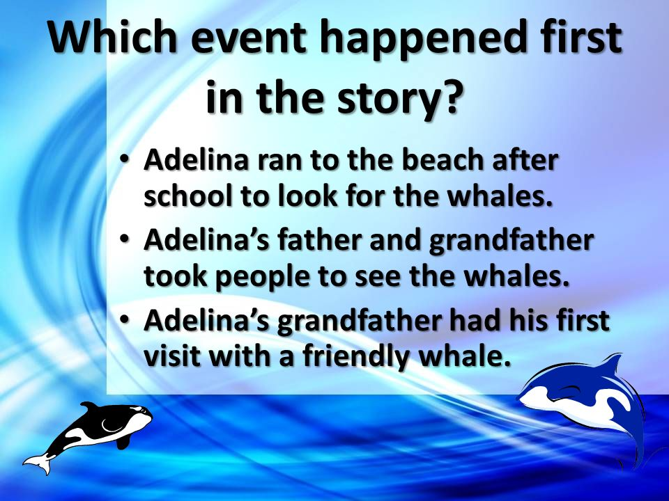 Which event happened first in the story