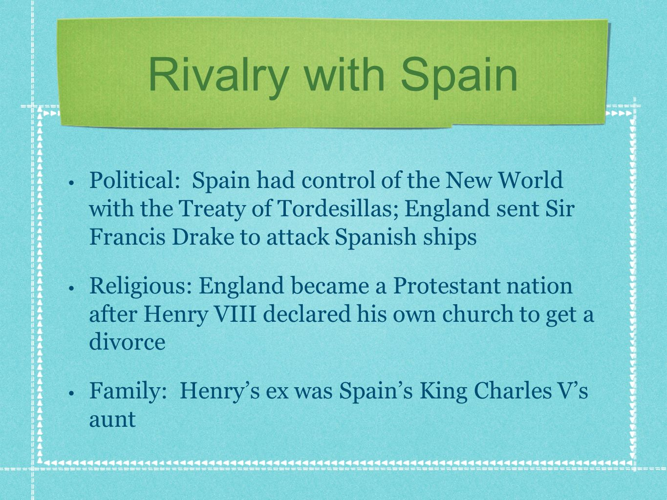 Rivalry with Spain