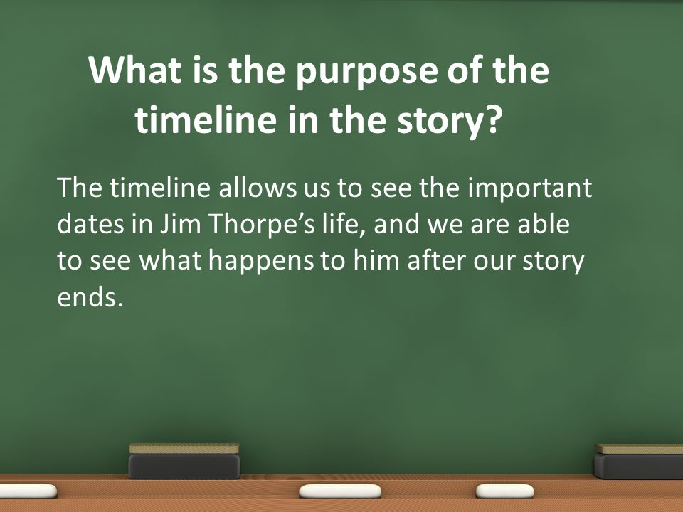 What is the purpose of the timeline in the story