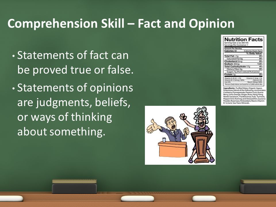 Comprehension Skill – Fact and Opinion