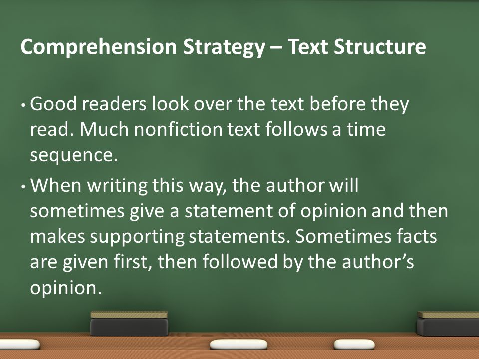 Comprehension Strategy – Text Structure