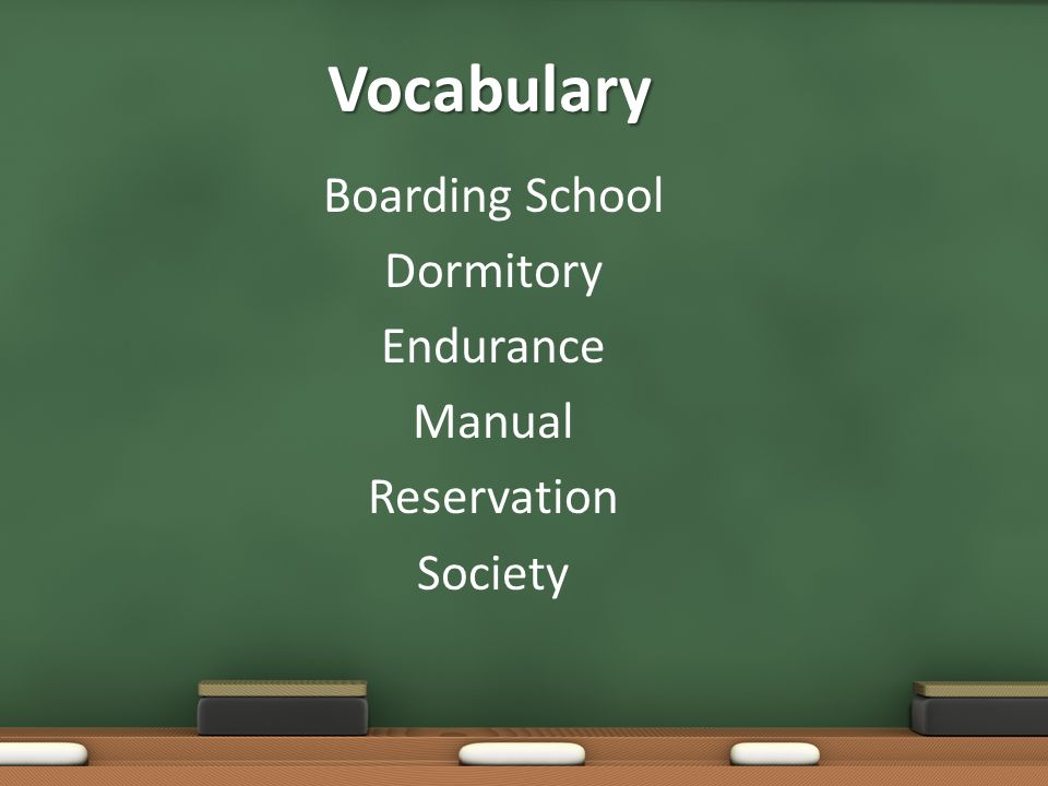 Boarding School Dormitory Endurance Manual Reservation Society