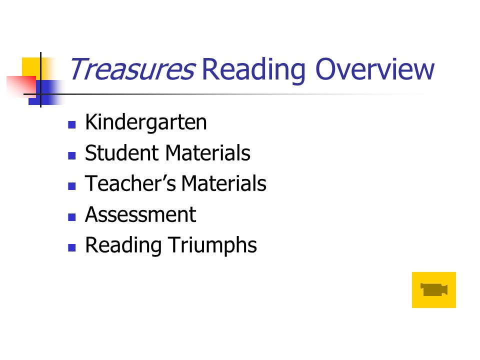 Treasures Reading Overview