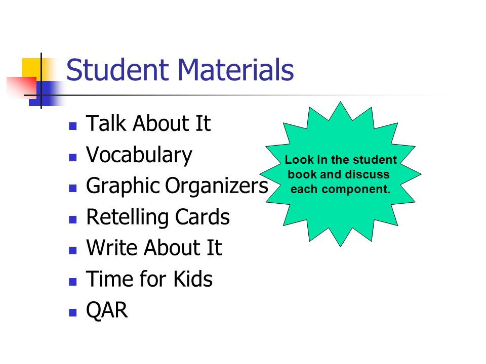 Student Materials Talk About It Vocabulary Graphic Organizers