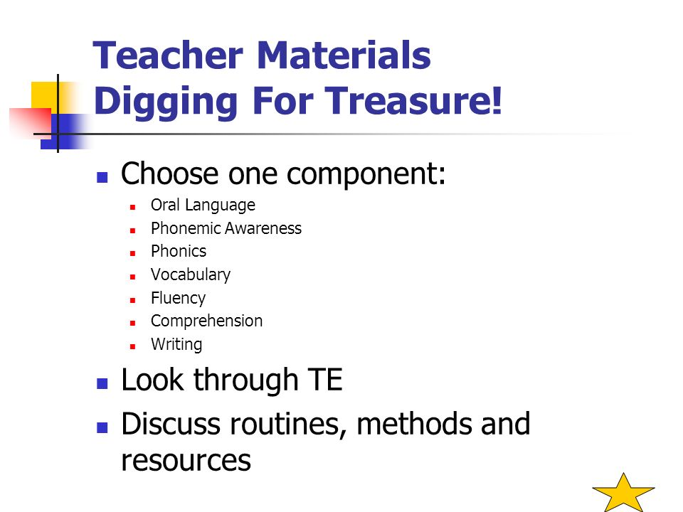 Teacher Materials Digging For Treasure!