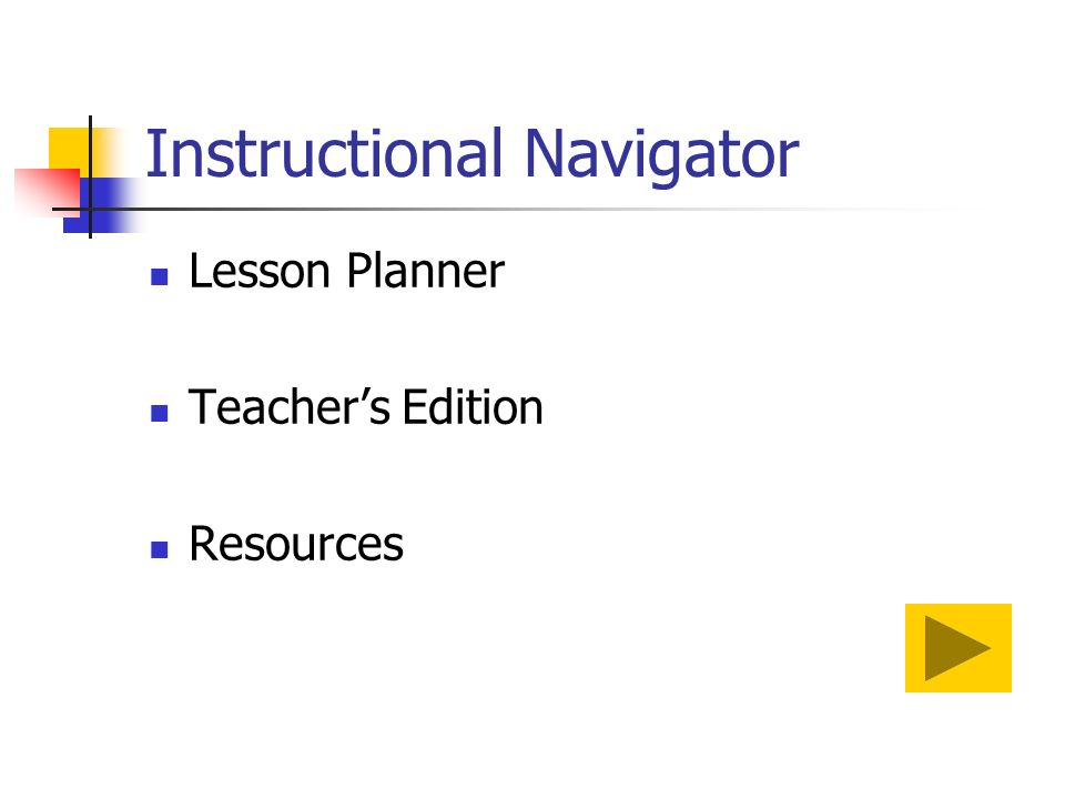 Instructional Navigator