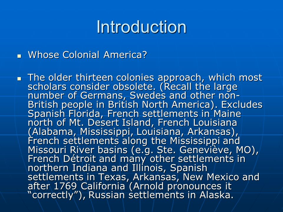 Introduction Whose Colonial America