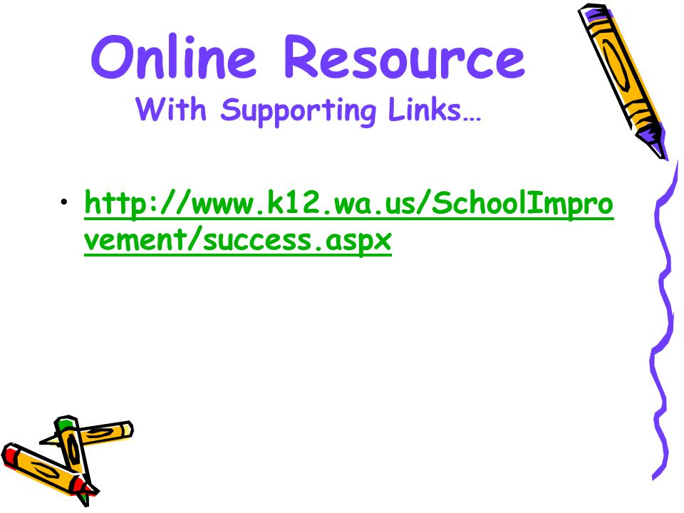 Online Resource With Supporting Links…