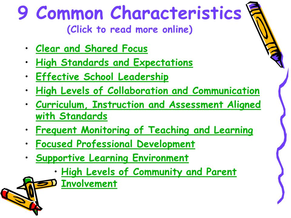 9 Common Characteristics (Click to read more online)
