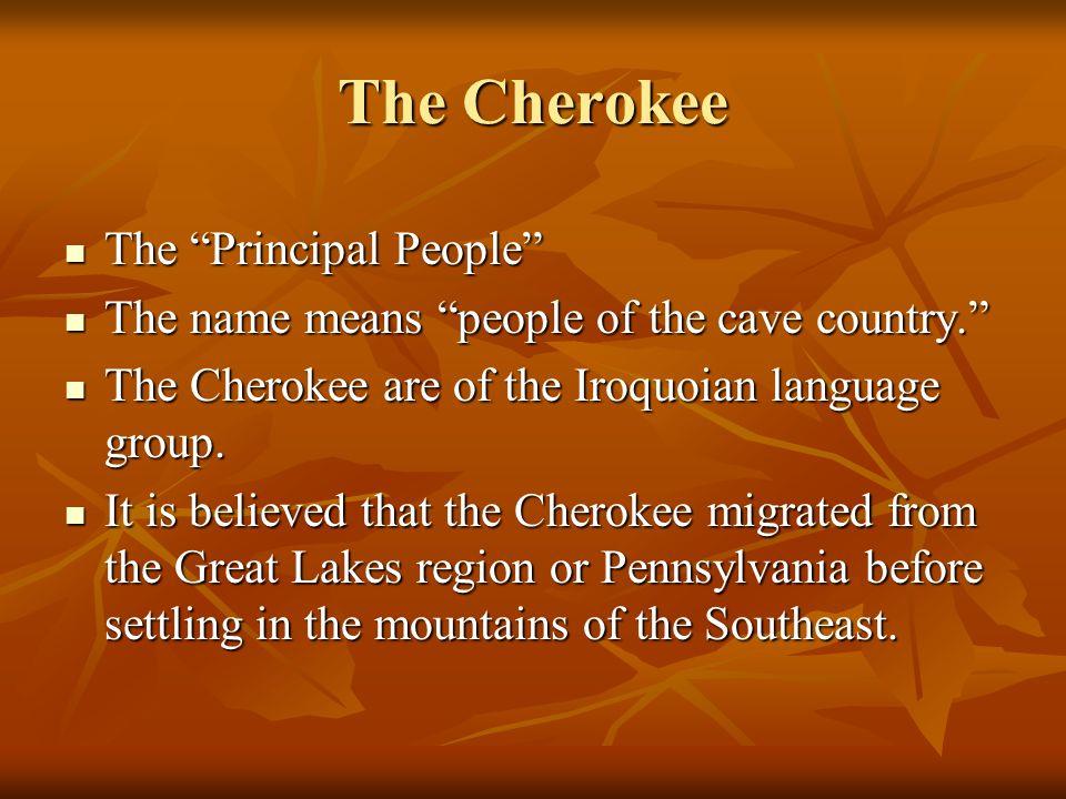 The Cherokee The Principal People