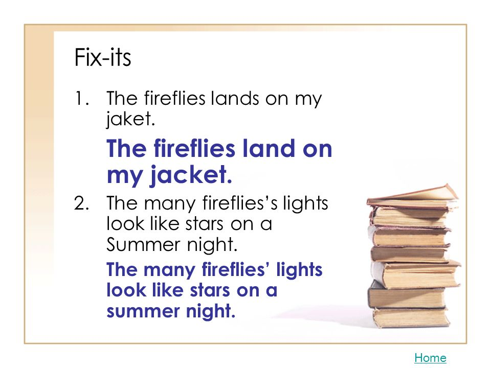 The fireflies land on my jacket.
