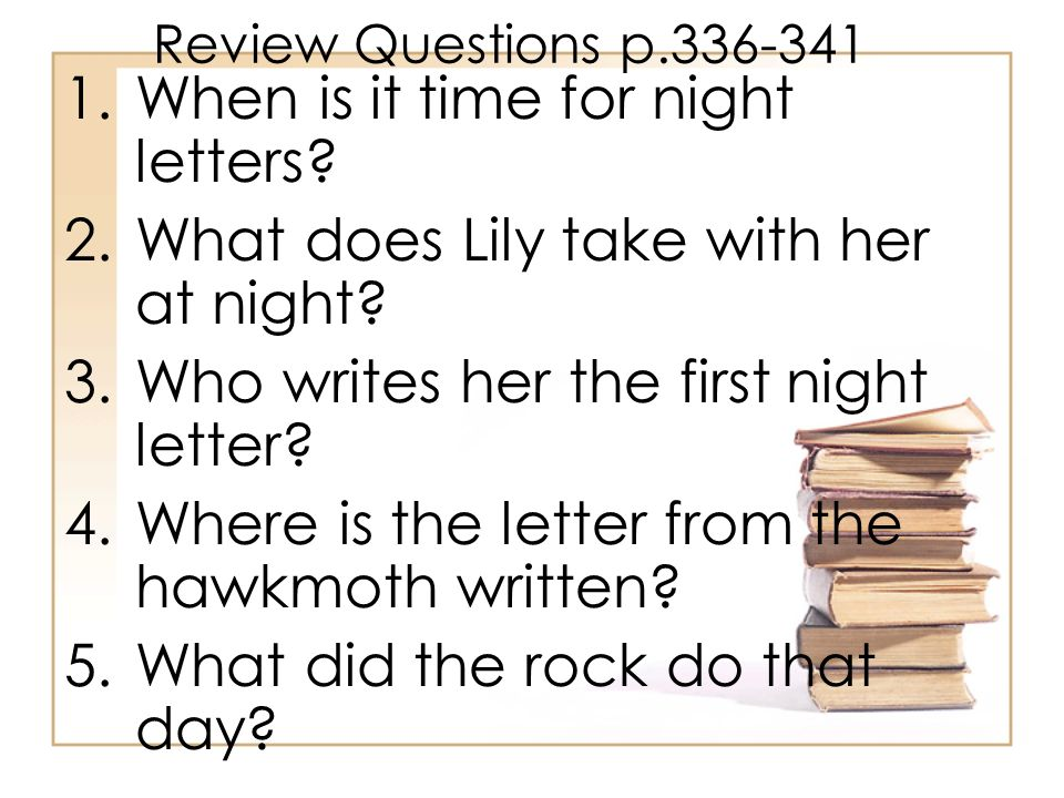 When is it time for night letters