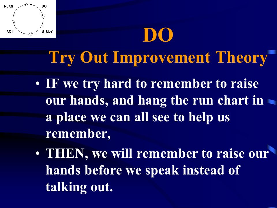 DO Try Out Improvement Theory