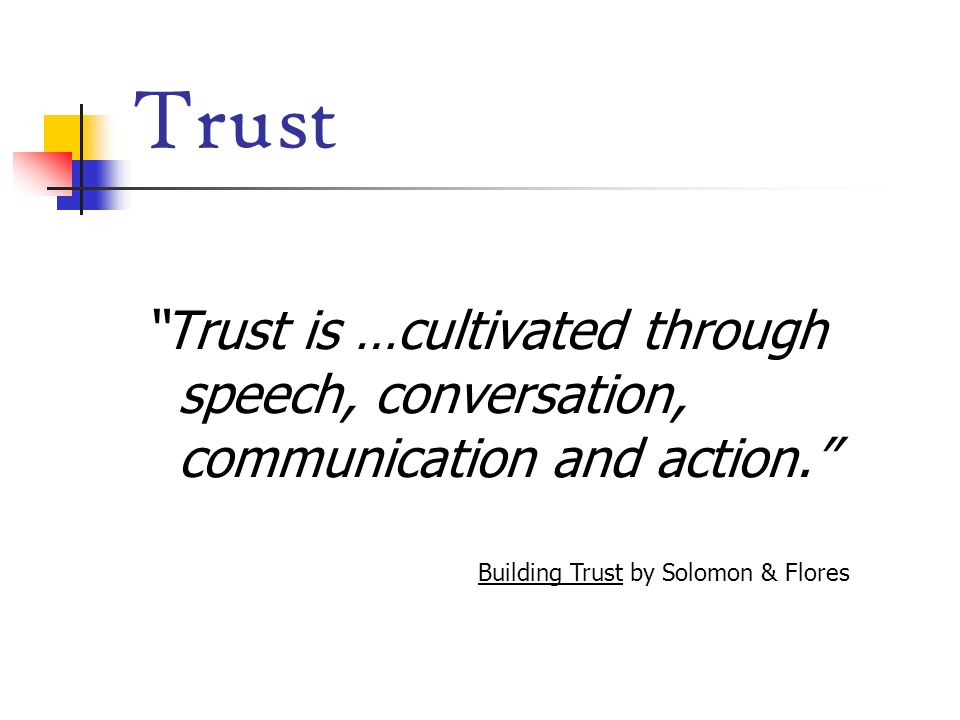 Building Trust by Solomon & Flores