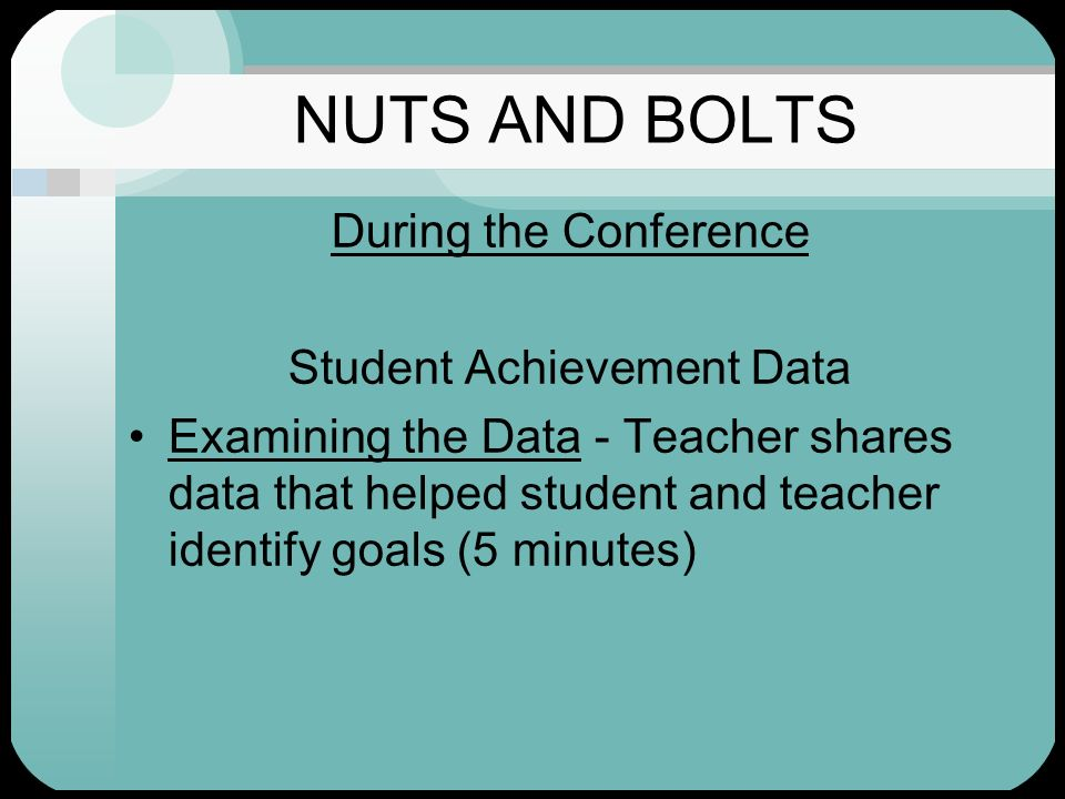 Student Achievement Data
