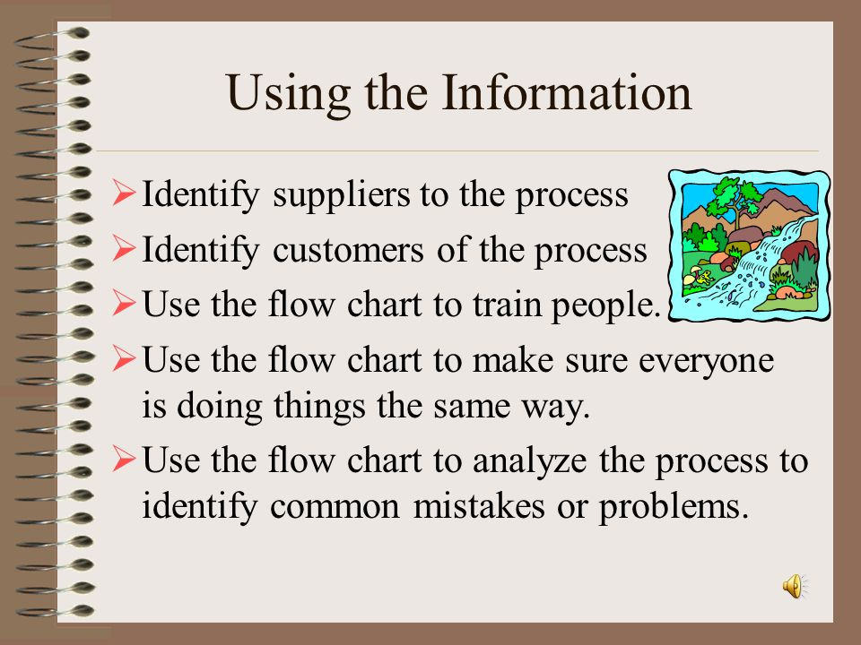 Using the Information Identify suppliers to the process