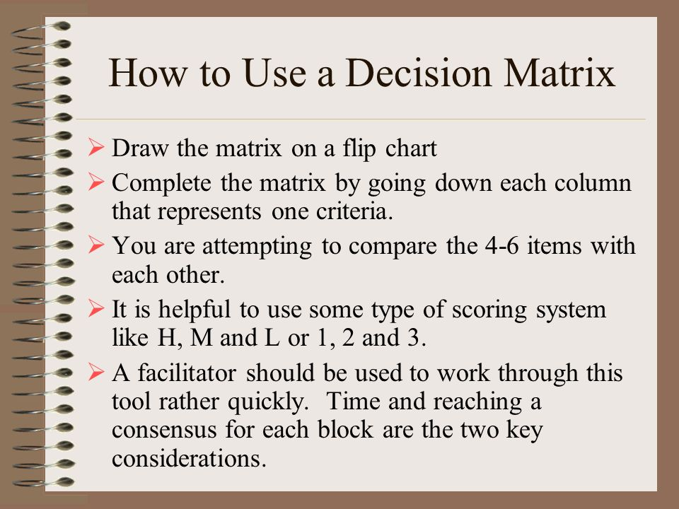 How to Use a Decision Matrix