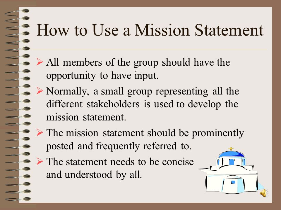 How to Use a Mission Statement