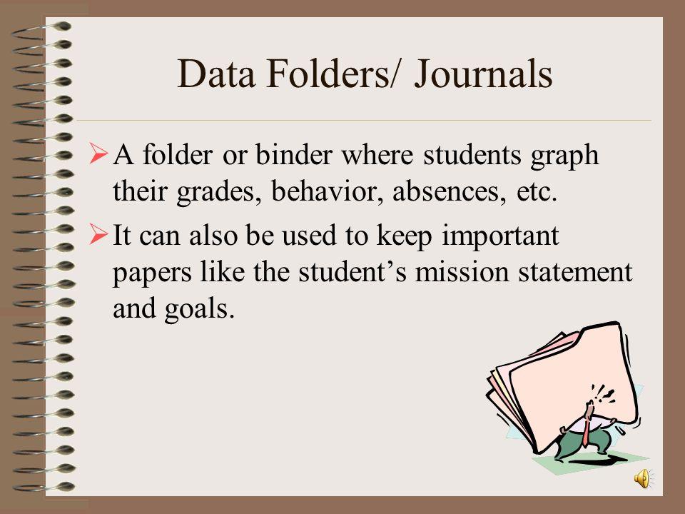 Data Folders/ Journals