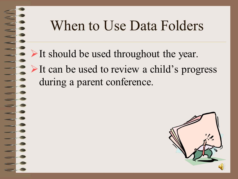 When to Use Data Folders