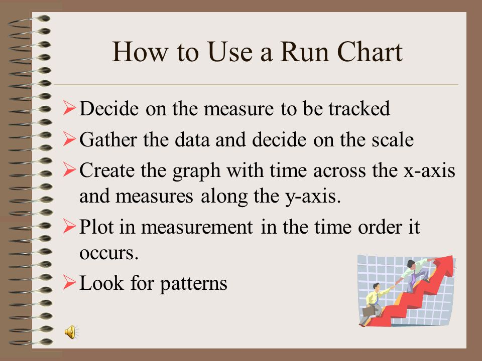 How to Use a Run Chart Decide on the measure to be tracked