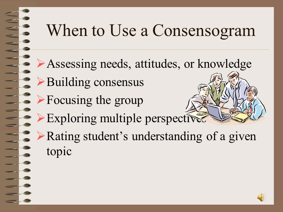 When to Use a Consensogram