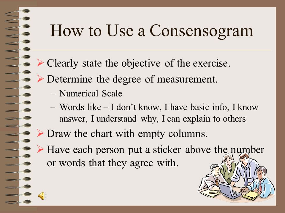 How to Use a Consensogram