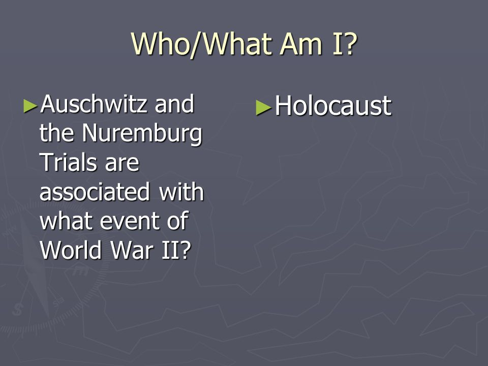 Who/What Am I Holocaust
