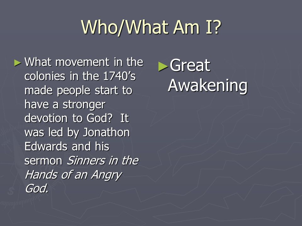 Who/What Am I Great Awakening