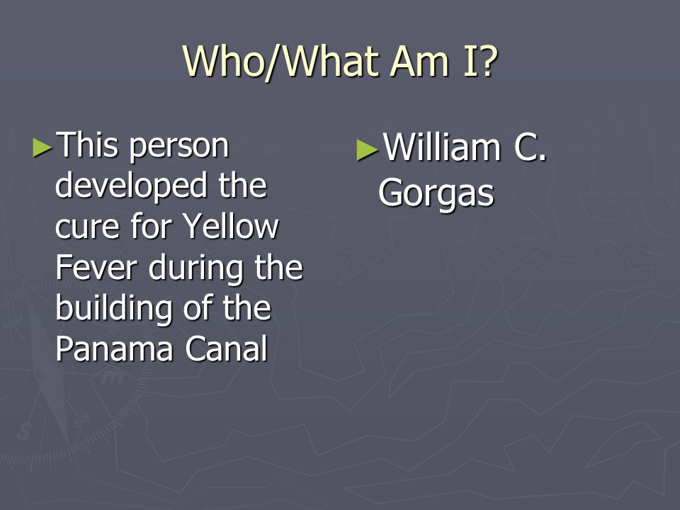 Who/What Am I William C. Gorgas