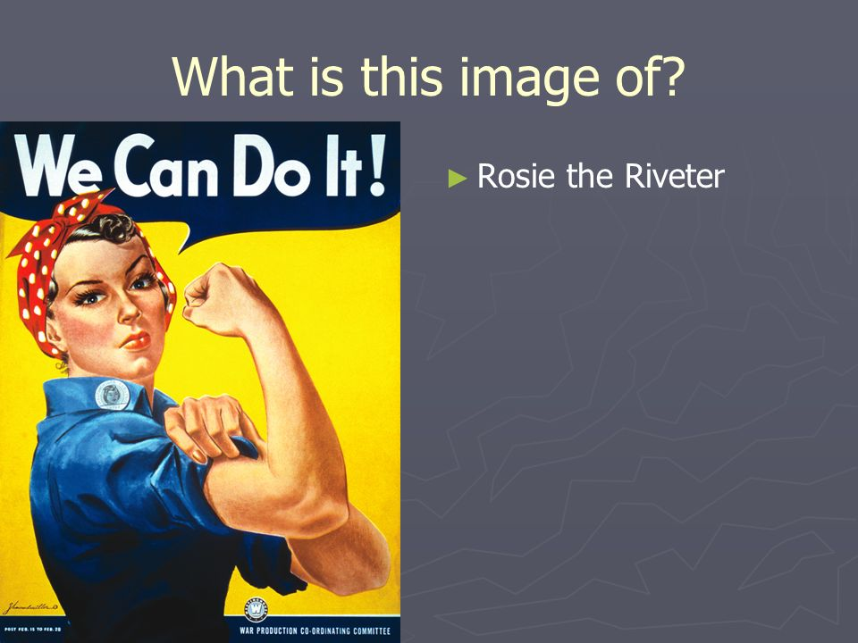 What is this image of Rosie the Riveter