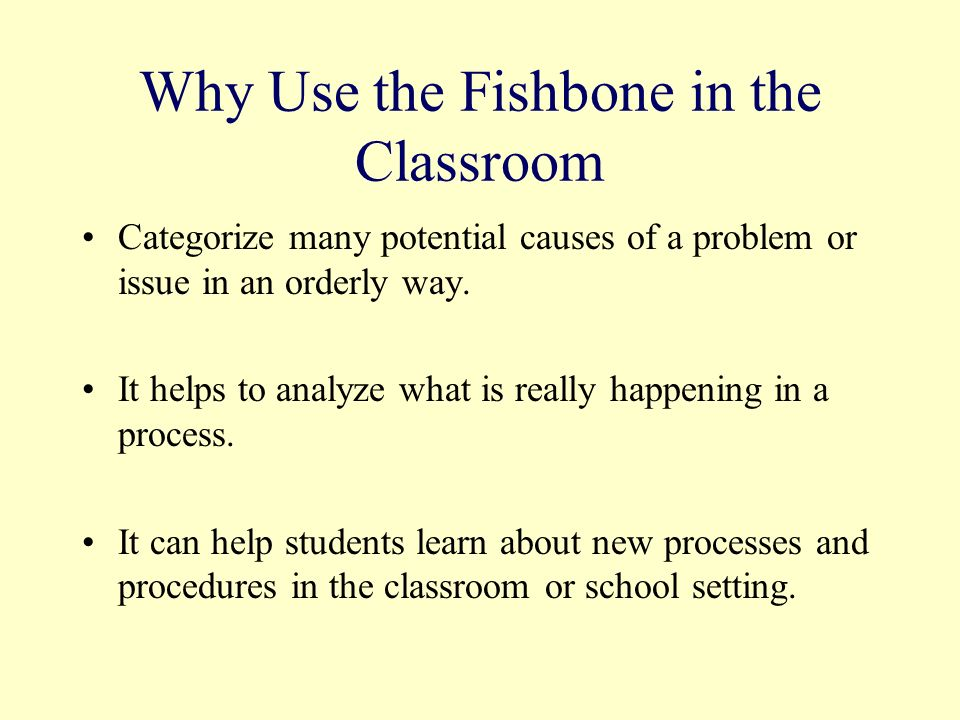Why Use the Fishbone in the Classroom