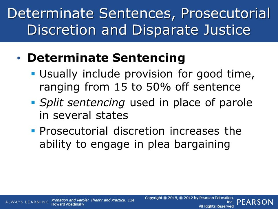 Determative vs indetermative sentencing essay