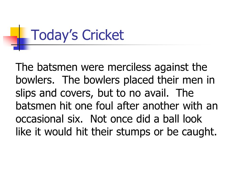 Today's Cricket