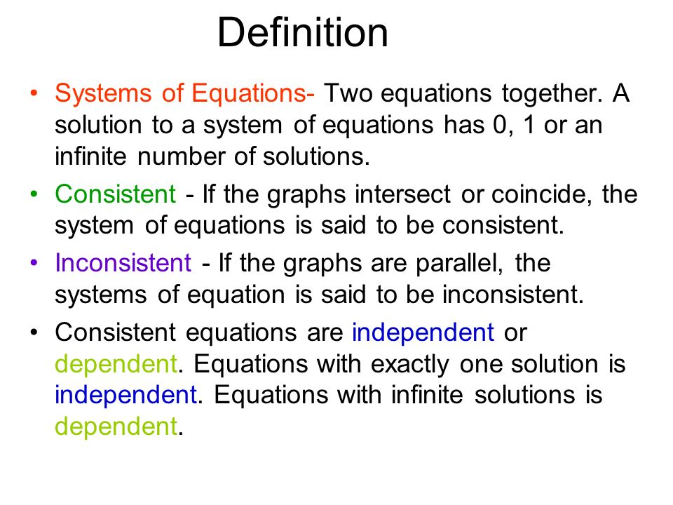 how to tell if two equations are parallel