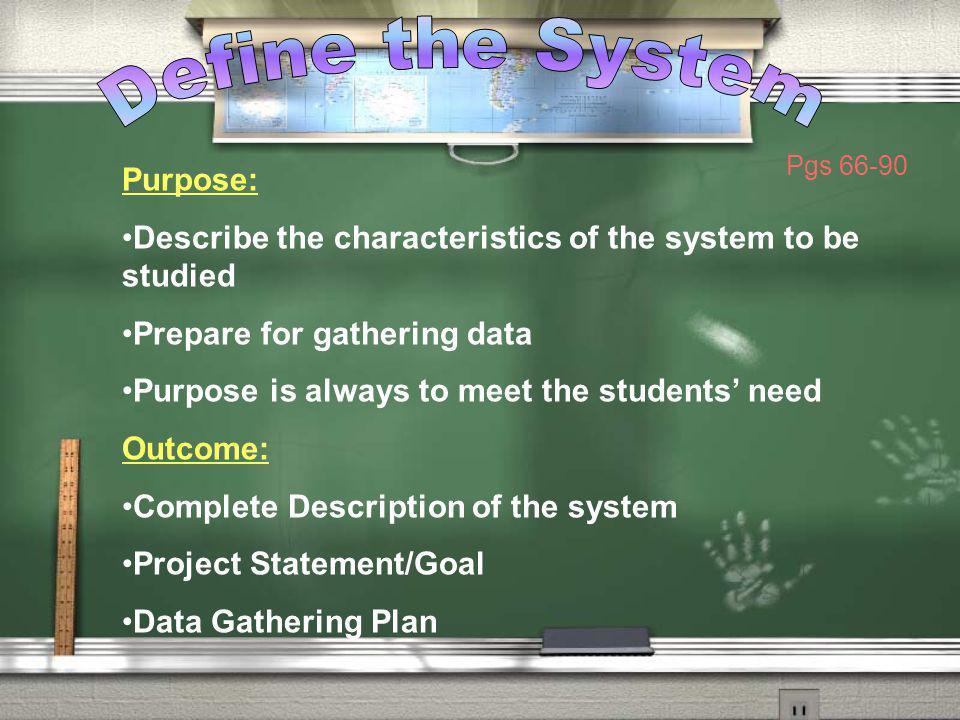 Define the System Purpose: