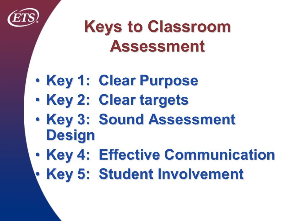 Keys to Classroom Assessment