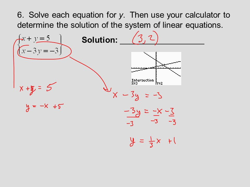 By Drawing The Line Y Solve The Equations : Section solving systems of linear equations in two