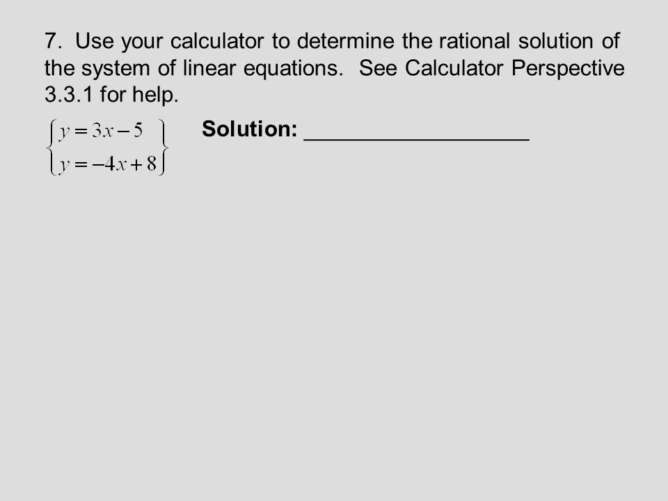 Write a system of linear equations in three variables that determine