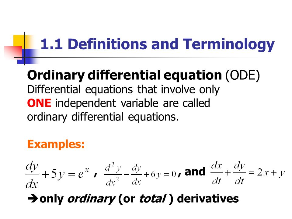 Ordinary Differential Equations Ppt Video Online Download