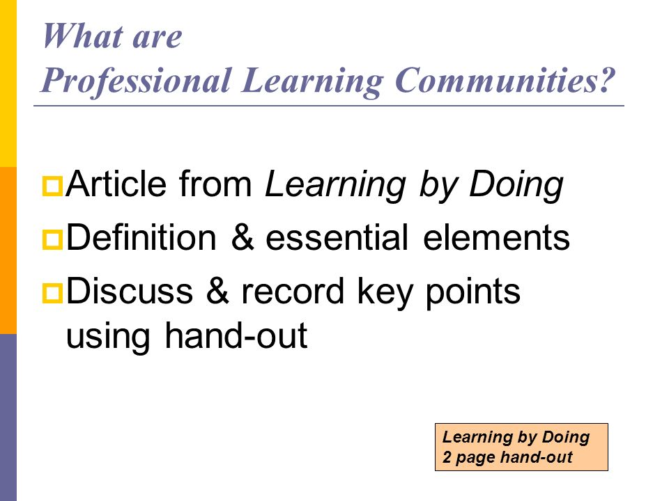 What are Professional Learning Communities
