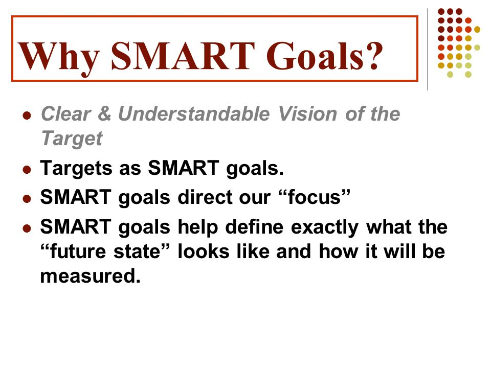 Why SMART Goals Clear & Understandable Vision of the Target