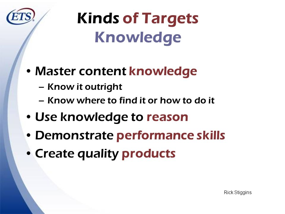 Kinds of Targets Knowledge