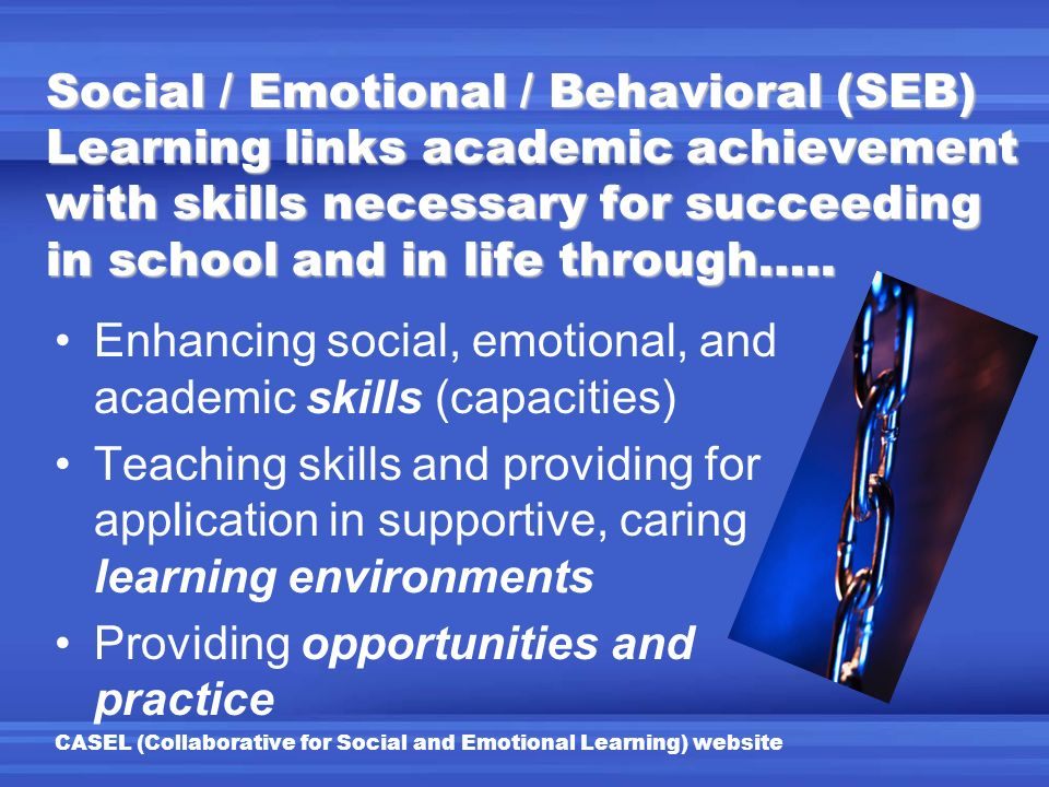 Enhancing social, emotional, and academic skills (capacities)