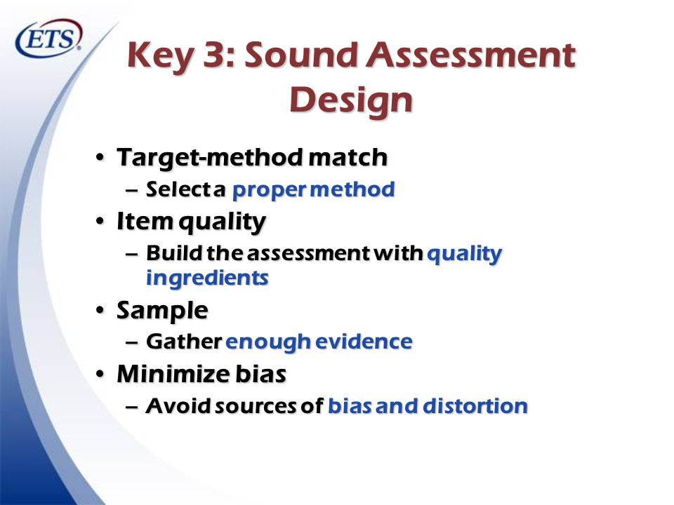 Key 3: Sound Assessment Design
