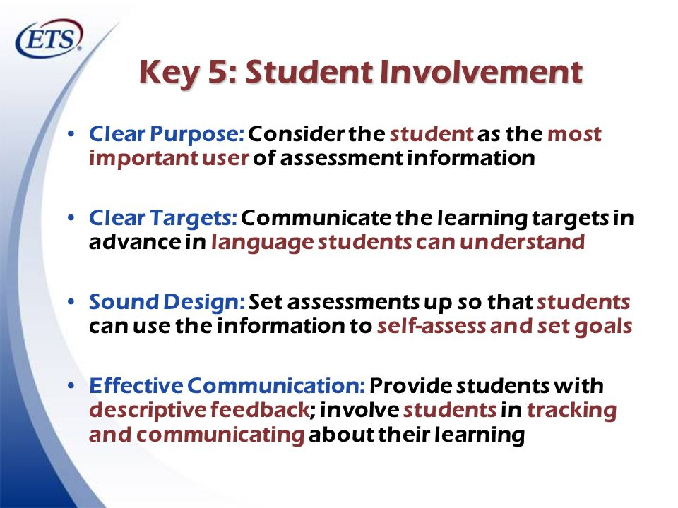 Key 5: Student Involvement
