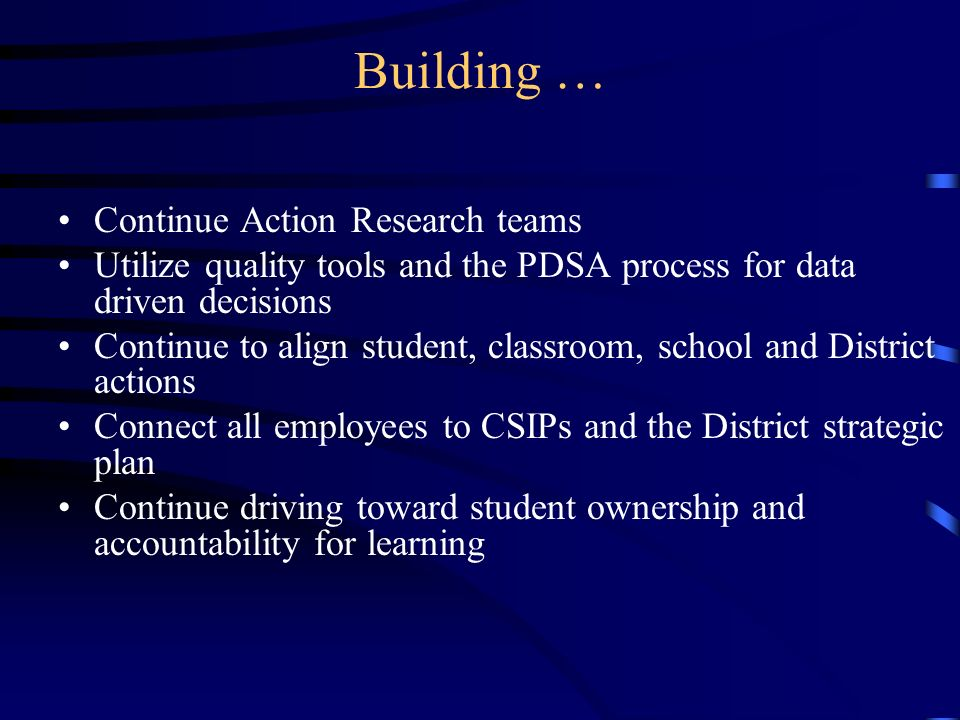 Building … Continue Action Research teams