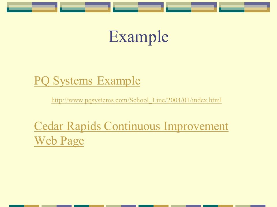 Example PQ Systems Example