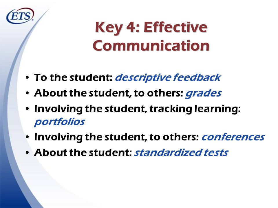 Key 4: Effective Communication