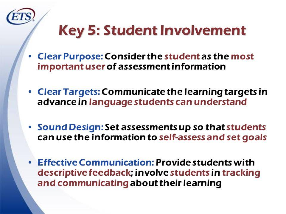 Key 5: Student Involvement